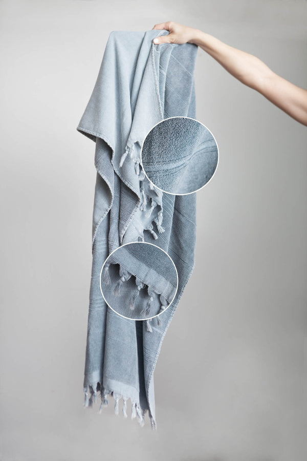 Kayra terry Turkish towel - stone