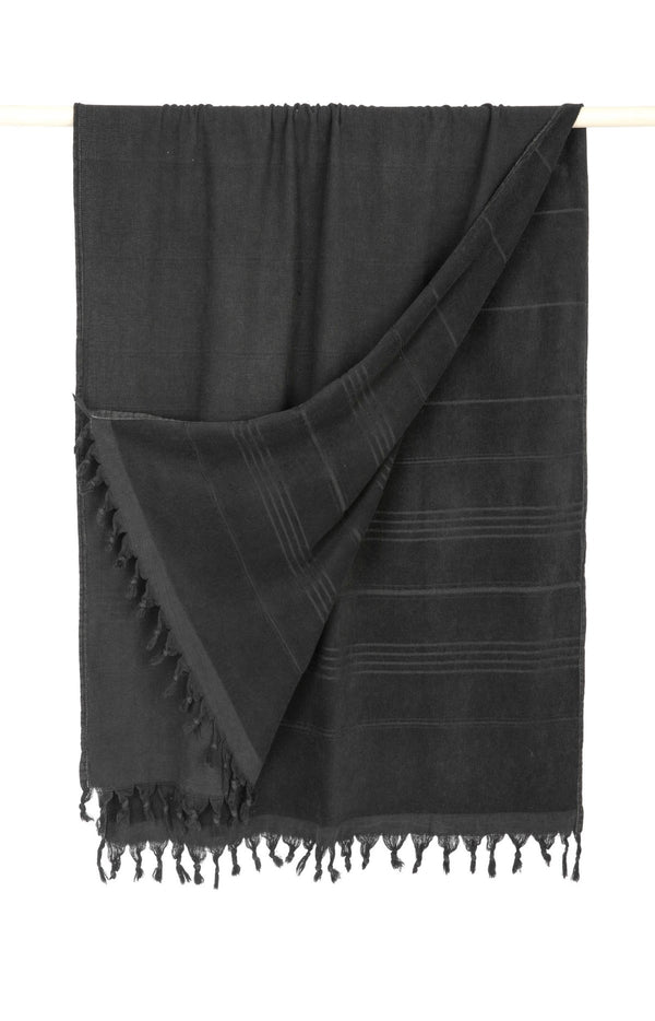 Kayra terry Turkish towel - Vintage black