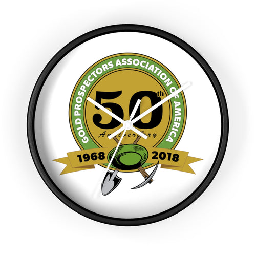 GPAA 50th Anniversary | Wall clock - Gold Prospectors Association of America