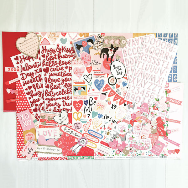 """HUGS & KISSES"" SCRAPBOOK KIT"