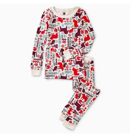 Printed Long Sleeve Pajama - Nordic Animals