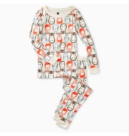 Printed Long Sleeve Pajama - Nesting Animals