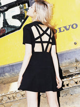 Pentagram Baby Doll Mini Dress - Goth Mall