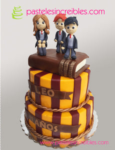 Pastel de Harry Potter, Hermione y Ron