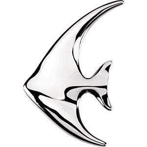 Sterling Silver Angelfish Brooch / Pendant