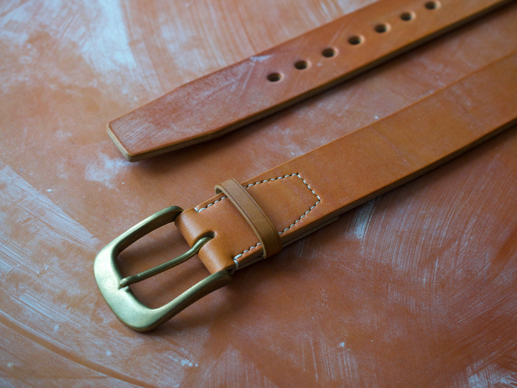 Wild Foot Belt - Stitched - J&FJ Bakers Bridle Leather (London Tan)