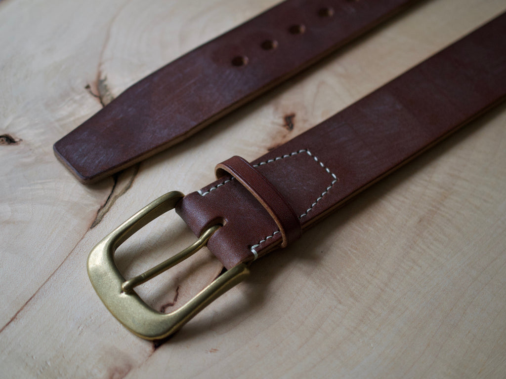 Wild Foot Belt - Stitched - J&FJ Bakers Bridle Leather (Dark Stain Oak)