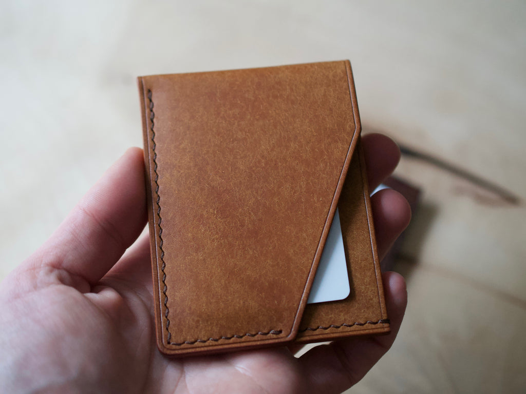 Alba - 2 Pocket Card Wallet - Badalassi Carlos Pueblo Leather (Cognac)