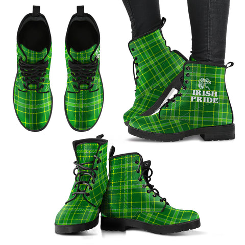 Tartan Irlandese - Leather Boots Donna -