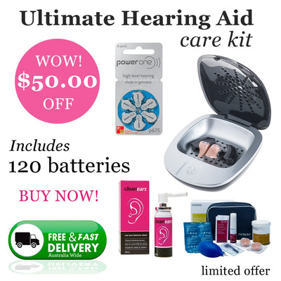 Ultimate Power One Size 675 (QTY 120) Hearing Aid Care Kit
