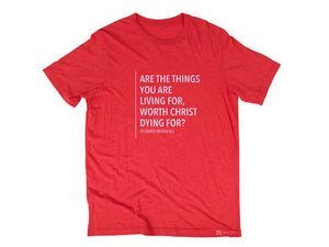Ravenhill Quote (T-shirt, Red)