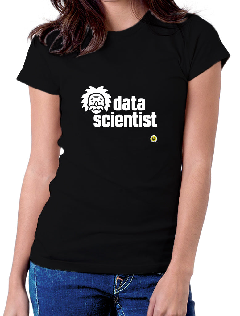 Moda Geek - Camisetas Originales Data Science - Data Scientist Einstein 1 Negra - pasionteki.com