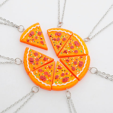 Pizza Best Friends Forever Necklace or Keychain