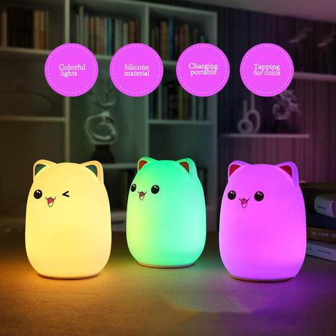 Color Cat Night Lights
