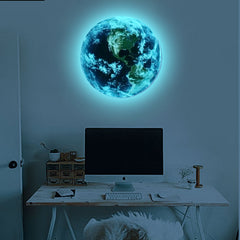 Luminous Blue Earth 3D Wall Stickers