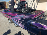 Rc Boat Graphics Dominator Mono with bling
