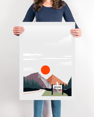 The Peaks Minimalist Movie Poster