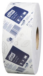 Tork 2179144 Jumbo T1 White 2-Ply Toilet Roll
