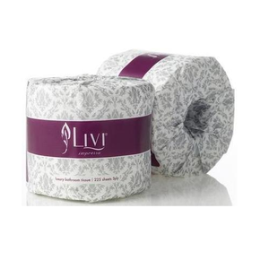 Cottonsoft Livi Impressa 3005 Embossed White 3-Ply Wrapper Toilet Rolls