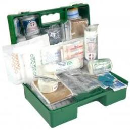 First Aid Kit Industrial & Commercial 1-12 Person In Green Plastic Wall Mountable Box
