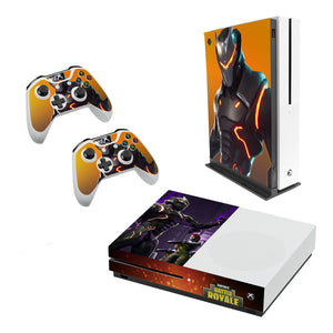 Fortnite -Decal Style Skin Set fits XBOX One S Console and 2 Controllers 004
