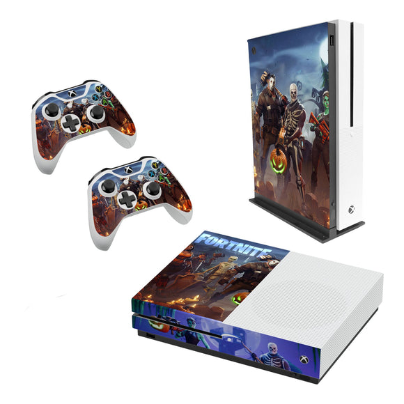 Fortnite -Decal Style Skin Set fits XBOX One S Console and 2 Controllers 005