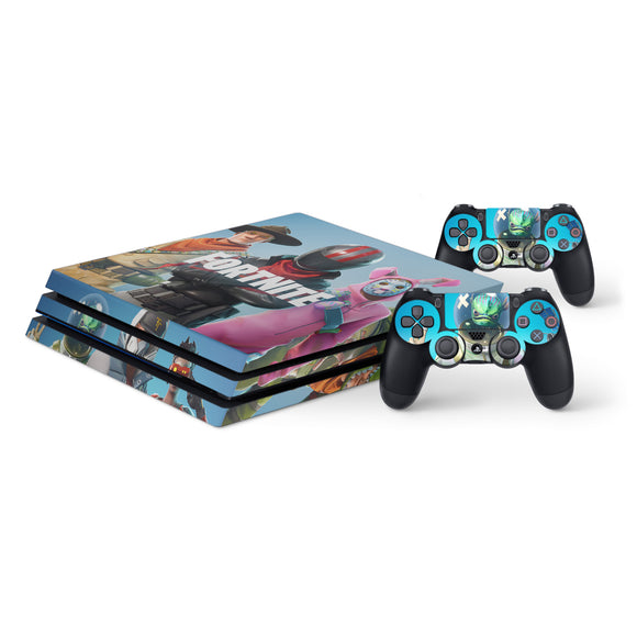 Fortnite -Protective Vinyl Skin Decal Cover for PlayStation 4 Pro Console & 2 Controllers 002