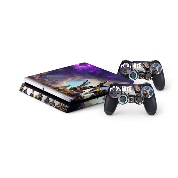 Fortnite -Protective Vinyl Skin Decal Cover for PlayStation 4 Slim Console & 2 Controllers