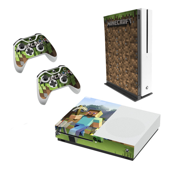 Minecraft -Decal Style Skin Set fits XBOX One S Console and 2 Controllers