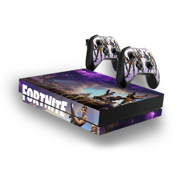 Fortnite -Decal Style Skin Set fits XBOX One X Console and 2 Controllers