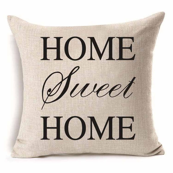 Home Sweet Home - Pillow Cover 18 x 18 Inches - Premium Pillow Store