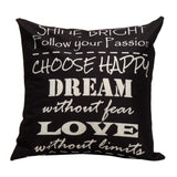 Motivational Quote Pillow Case 18 x 18 inch - Premium Pillow Store