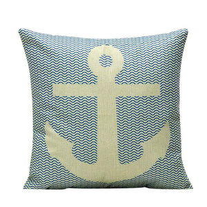 Anchors away pillow cover 18 x 18 inch - Premium Pillow Store