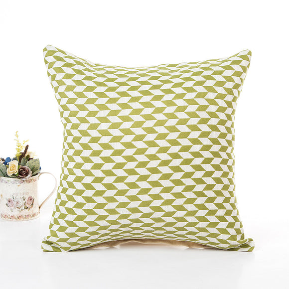 Optical Illusion Parallelogram Pattern Parallelogram Pillow Cover 16x16 - Premium Pillow Store