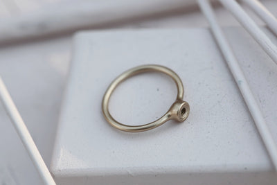 RING BASE 4MM BRONZE