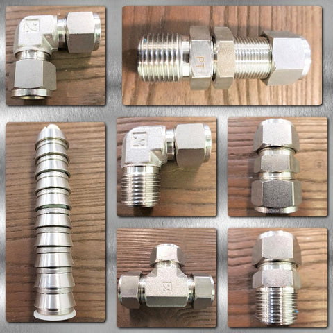 Stainless Steel Twin Ferrule Compression Tube Fittings