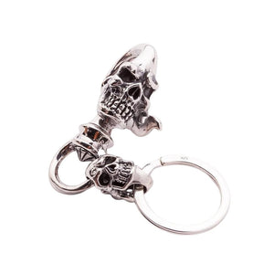sterling silver keychain skull jewelry