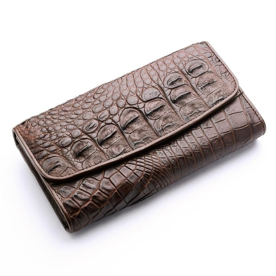real crocodile alligator skin women's wallet