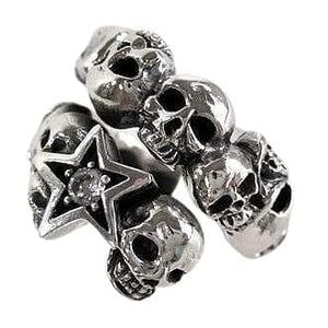 skull rock n roll ring