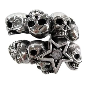 sterling silver rock star ring