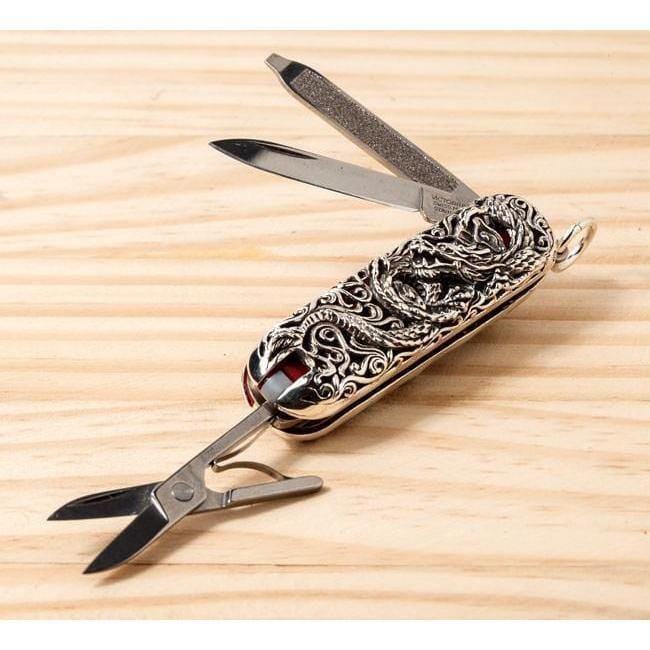 Sterling Silver Dragon Swiss Army Knife