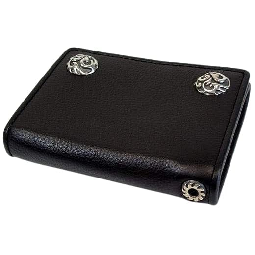 genuine cowhide leather chain wallet