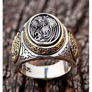 925 Sterling Silver Japanese Phoenix Rings