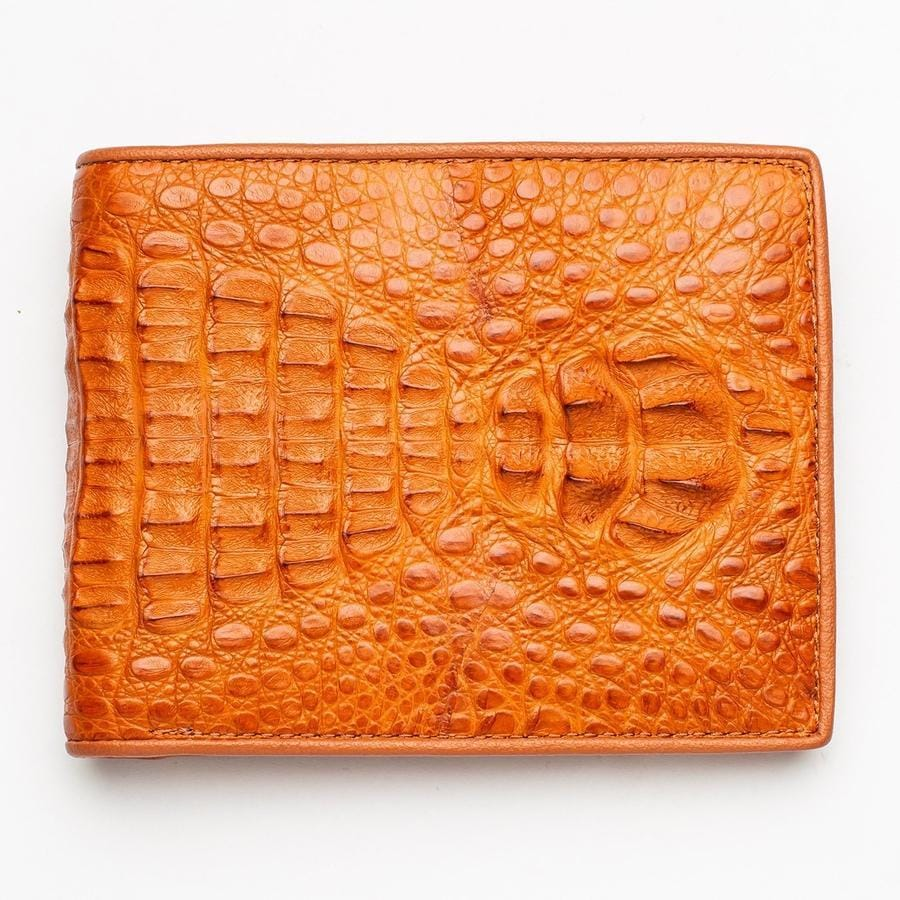 real men's crocodile skin wallet