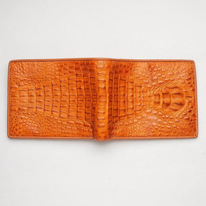 light brown crocodile wallet
