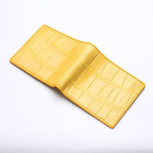 yellow stomach alligator crocodile wallet