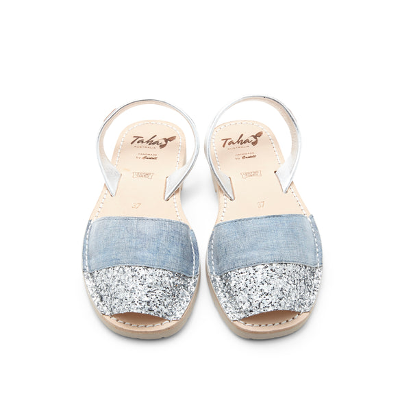 Denim Glitter Leather - Taha Australia