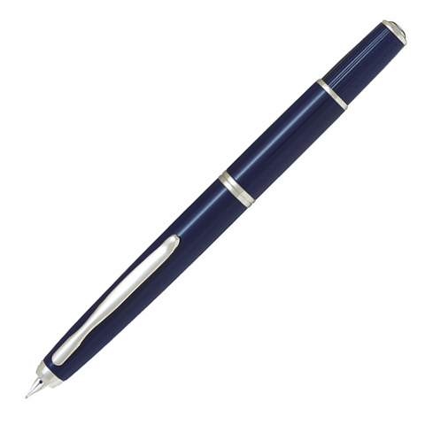 Pilot Capless Fermo Dark Blue Fountain Pen - Medium Nib - KSGILLS.com | Online Penshop Malaysia
