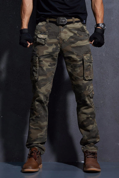 Camouflage Pant's For Men Army Style Urban Clothing Military Style Camouflage Multi-Pocket Tactical Cargo Pants Combat Camo Trousers - 5 Colors