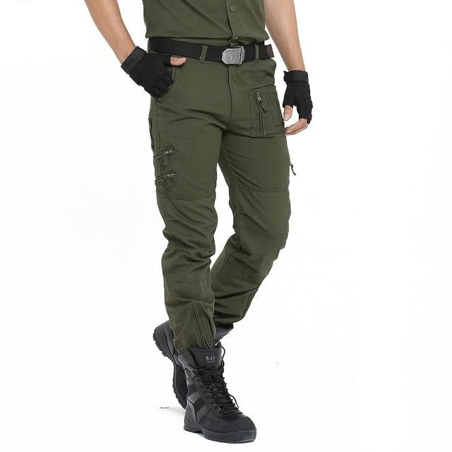 Cargo Pants Men Military Style Straight Trousers Tactical Camo Army Pants Camo Joggers Multiple Pocket - 5 Colors